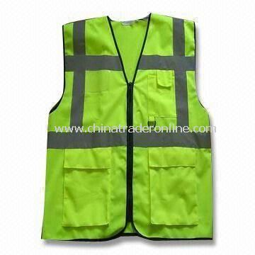 Reflective Safety Vest, Made of Knitted or Woven Fabric, EN 471 Certified