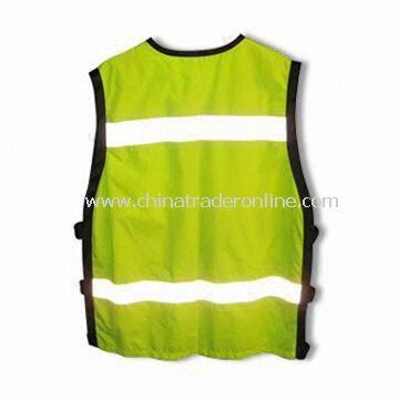 Reflective Safety Vest, Various Colors are Available, Made of Polyester