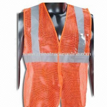Reflective Safety Vest, Various Sizes are Available, Made of Polyester Tricot