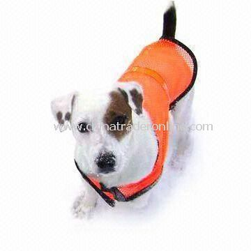Reflective Safety Vest with High Visibility and Velcro or Zipper Front Closures, Suitable for Pet