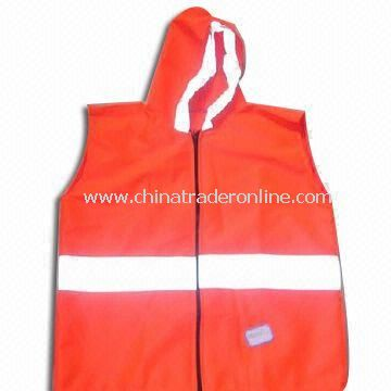 Reflective Safety Vest with Zipper/Velcro, Available in Various Sizes and Colors
