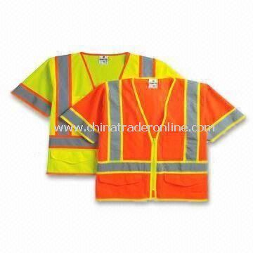 Reflective Safety Vests, Made of Knitted or Woven Fabric, EN 471 Certified