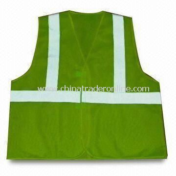 Safety Vest, Made of 100% Polyester, EN 471 Standard