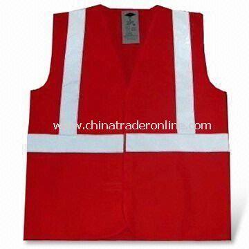 Safety Vest, Made of 100% Polyester, Meets EN471 Standard