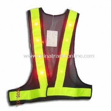 Safety Vest, Made of 100% Polyester Tricot, Various Colors are Available