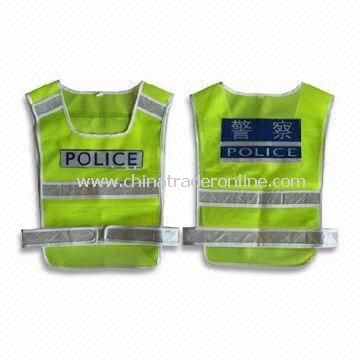 Safety Vest with Velcro Fastener, Available in Sizes of S to XXXL