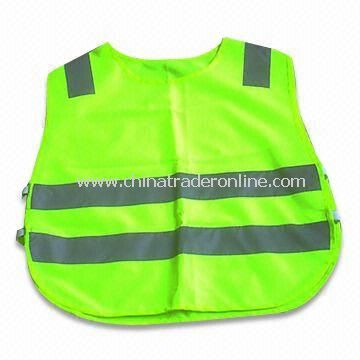 Safety Vest with Velcro Fastener, Various Colors are Available