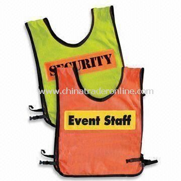 Safety Vests with Velcro Front Fastening, Customized Colors are Accepted
