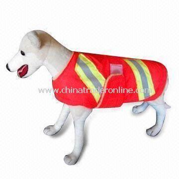 Velcro or Zipper Front Closures Reflective Safety Vest for Pets, Available with High Visibility
