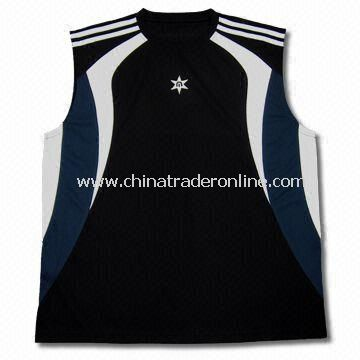 Childrens 100% Cool Dry Sleeveless Sports T-shirt, Available in Size of XS to 6XL from China