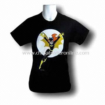 Cotton Casual T-shirt with Special Front Printing Patterns, Available in Various Sizes and Colors