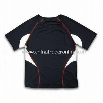 Cycling/Running T-shirt, Made of 100% Micro Polyester Mesh, Customized Designs are Accepted