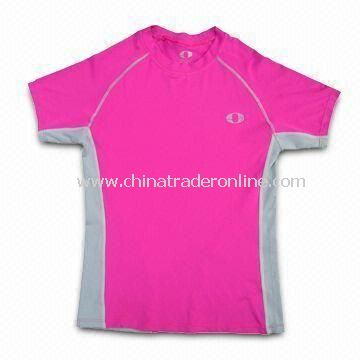 Cycling/Sport/Bicycle T-shirt, Made of Polyester, Customized Designs are Welcome from China