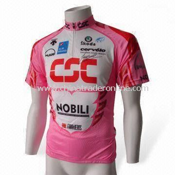Cycling Wear T-shirt, Made of 100% Polyester with Anti-bacterial and UV Protection