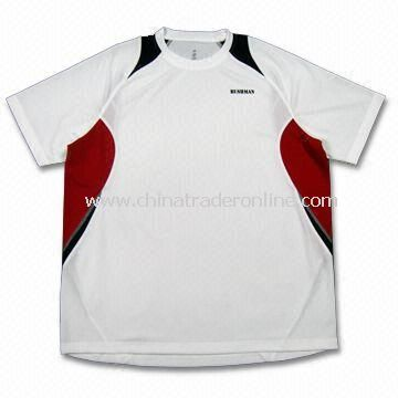 Dry Fit Mens Sports T-shirt, Made of 100% 100% Polyester Honey Comb