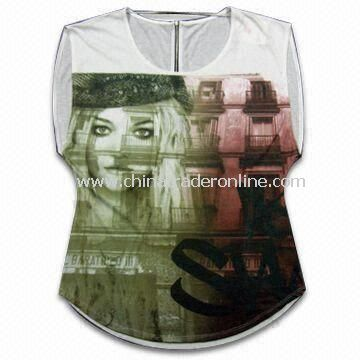 Fashionable Sublimation Printed Womens/Casual Dress, Made of TC Light Soft Jersey