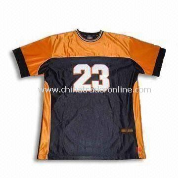 Football T-Shirt with Functional Interlock UV-cut