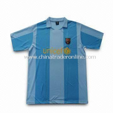 Football T-Shirt with Functional Interlock UV-cut Design
