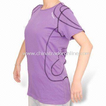 Ladies Biking T-shirt, Made of 100% Polyester