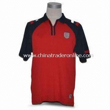 Mens Soccer T-shirt, Made of 100% Polyester, Interlock 145gsm and Quick-dry Active Feature