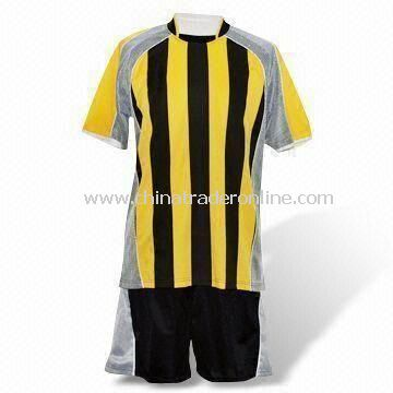 Mens Soccer T-shirt, Made of 100% Polyester, Interlock 150gsm; Qucik-dry Active Feature