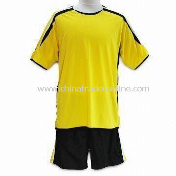 Mens Soccer T-shirt, Made of 100% Polyester, Interlock 150gsm; Quick-dry Active Feature