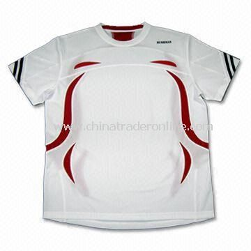 Mens Sports T-shirt with Outdoor Performance Wear, Made of 100% Polyester