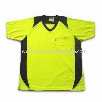 Mens T-shirt, Made of 100% Polyester, Suitable for Sports, Available in Various Colors
