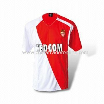 Polyester Soccer Jersey/Mens t shirt Available in Sizes of S, M, L, XL, and XXL