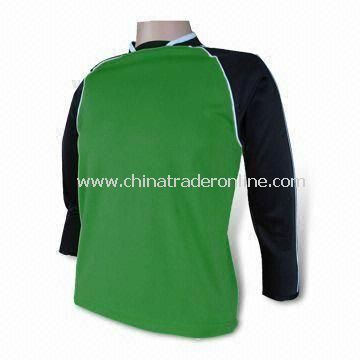 Soccer Jersey T-shirt, Made of 100% Polyester, Different Colors and Styles are Available