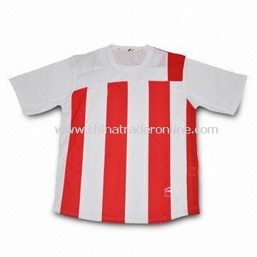 Soccer T-shirt, Made of 100% Polyester, Interlook, 160g