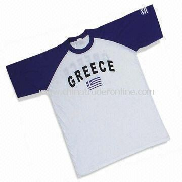Sports Jersey/T-shirt with Printing, Made of 100% Cotton