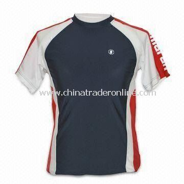 Sports T-shirt, Made of 100% Polyester, Interlock 160gsm