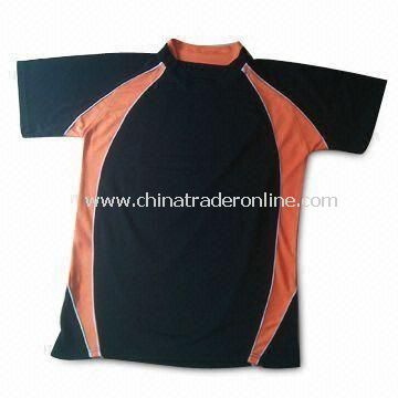 Sports T-shirt, Made of 100% Polyester Mesh Cloth, Customized Sizes are Welcome