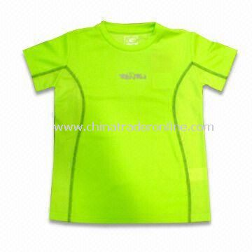 Sports T-shirt, Made of Coolmax, Quick-drying