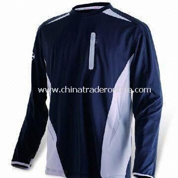 Sports T-shirt with Long Sleeves, Black and White Colors are Available