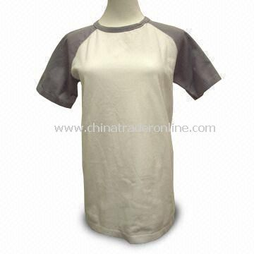 T-shirt Made from Coolmax Fabric, with Seamless Design