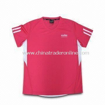 Womens Sport T-shirt, Made of 100% Polyester, Available in Red