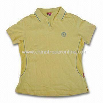 Womens Sports T-shirt, Made of 80% Cotton, 20%Polyester, Available in Various Colors