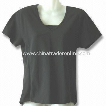 Womens T-shirt with Short Sleeves, Available in Black