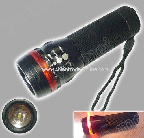 Adjustable Zoom CREE LED Flashlight warning light torchlight with dust jacket