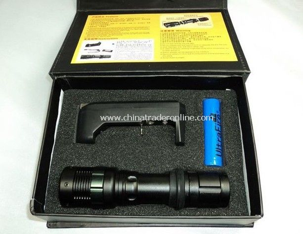 Q5 Ultrafire 210lumen LED Profecssional Tactical Stainless Steel Flashlight/Torch,with focus