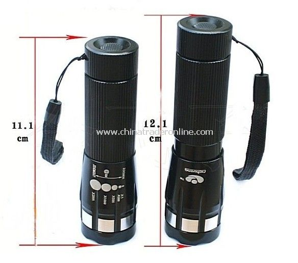 Rotating focus LED flashlight