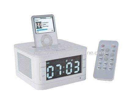 Fashionable alarm clock radio for ipod