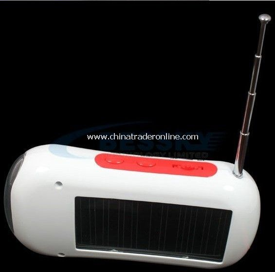 multifunction solar charger+led flashlight+FM radio