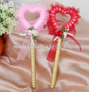 40pc gold heart-shaped ribbon lace wedding wedding supplies business sign pen pen sign pen wedding gifts, wholesale