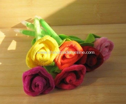 Valentines gift plush roses pen wedding wedding gifts ballpoint pen wholsale