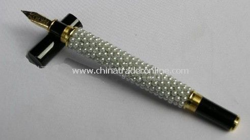 10pcs/lot 2011 The Best Gift--Upmarket Fashion White Pearl Fountain Pen with Gift Box from China
