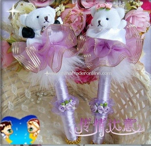 2011 New arrival !! Golden purple sign pen, Little bear married sign-in pen/guestbook/sign-in copies/wedding thing
