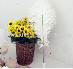 2011 New arrival Super ostrich wool sign-in pen sign-in pen/wedding things gift/business/party sign-in pen
